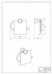 NOVASERVIS - Závěs toaletního papíru s krytem Metalia 3 chrom (6338,0), fotografie 6/3