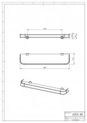 NOVASERVIS - Polička zaoblená se zábradlím Metalia 3 chrom (6353,0), fotografie 6/3
