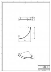 NOVASERVIS - Rohová polička se zábradlím Metalia 3 chrom (6358,0), fotografie 4/2