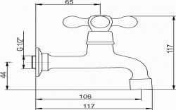 NOVASERVIS - Umyvadlová baterie na studenou vodu Retro II chrom (99106,0), fotografie 4/2