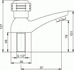 NOVASERVIS - Umyvadlová baterie na studenou vodu Retro I chrom (99005,0), fotografie 4/2
