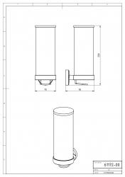NOVASERVIS - Zásobník na kosmetické tampony sklo Metalia 11 chrom (0172,0), fotografie 4/2