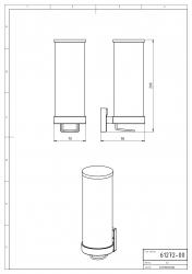 NOVASERVIS - Zásobník na kosmetické tampony sklo Metalia 12 chrom (0272,0), fotografie 4/2