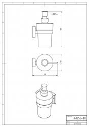 NOVASERVIS - Dávkovač mýdla Metalia 12 chrom (0255,0), fotografie 4/2