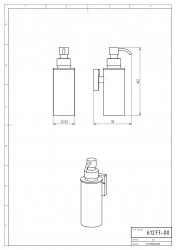 NOVASERVIS - Dávkovač mýdla kov Metalia 12 chrom (0277,0), fotografie 4/2