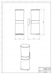 NOVASERVIS - Zásobník kosmetických tamponů a tyčinek Metalia 12 chrom (0282,0), fotografie 4/2