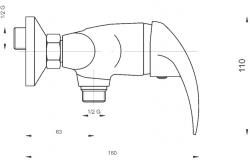 NOVASERVIS - Sprchová baterie bez příslušenství 150 mm Titania Lux chrom (91060/1,0), fotografie 6/3