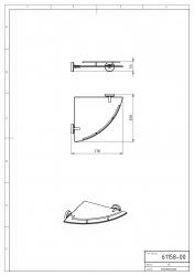 NOVASERVIS - Rohová polička se zábradlím Metalia 11 chrom (0158,0), fotografie 4/2