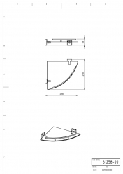 NOVASERVIS - Rohová polička se zábradlím Metalia 12 chrom (0258,0), fotografie 4/2