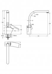 NOVASERVIS - Dřezová baterie KVADRO chrom (35713,0), fotografie 4/2
