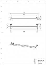 NOVASERVIS - Dvojitý držák ručníků 650 mm Metalia 11 chrom (0125,0), fotografie 4/2