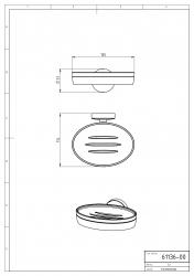 NOVASERVIS - Mýdlenka sklo Metalia 11 chrom (0136,0), fotografie 4/2