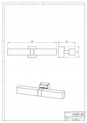 NOVASERVIS - Dvojité koupelnové světlo hranaté chrom (0205,0), fotografie 4/2