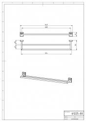 NOVASERVIS - Dvojitý držák ručníků 650 mm Metalia 12 chrom (0225,0), fotografie 4/2