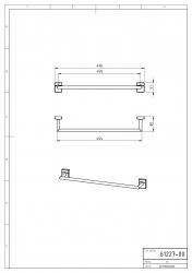 NOVASERVIS - Držák ručníků 500 mm Metalia 12 chrom (0227,0), fotografie 4/2