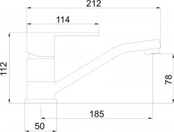 NOVASERVIS - Umyvadlová dřezová baterie Titania Fresh chrom (96096,0), fotografie 4/2