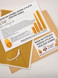 Sada na výrobu svíček z plátů včelího vosku-026 (VOSK-0026) - KOUPELNYMOST
