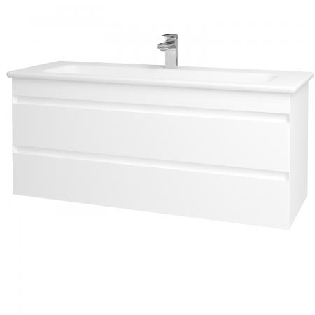 Dřevojas - Koupelnová skříň MAJESTY SZZ2 120 - L01 Bílá vysoký lesk / L01 Bílá vysoký lesk (120382)