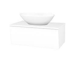 Dřevojas - Koupelnová skříň INVENCE SZZ 80 (umyvadlo Triumph) - L01 Bílá vysoký lesk / L01 Bílá vysoký lesk (181727)