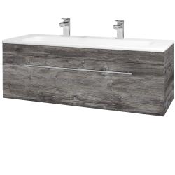 Dřevojas - Koupelnová skříň ASTON SZZ 120 - D10 Borovice Jackson / Úchytka T02 / D10 Borovice Jackson (109592BU)
