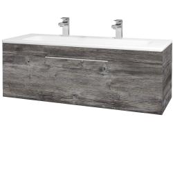 Dřevojas - Koupelnová skříň ASTON SZZ 120 - D10 Borovice Jackson / Úchytka T05 / D10 Borovice Jackson (109592FU)