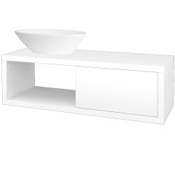 Dřevojas - Koupelnová skříň STORM SZZO 120 (umyvadlo Triumph) - L01 Bílá vysoký lesk / L01 Bílá vysoký lesk / Levé (131746)