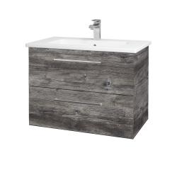 Dřevojas - Koupelnová skříň GIO SZZ2 80 - D10 Borovice Jackson / Úchytka T04 / D10 Borovice Jackson (146160E)