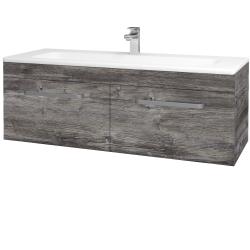 Dřevojas - Koupelnová skříň ASTON SZZ2 120 - D10 Borovice Jackson / Úchytka T01 / D10 Borovice Jackson (146917A)
