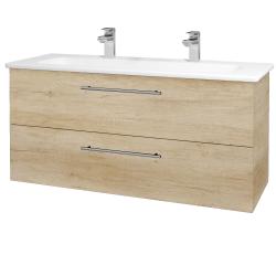 Dřevojas - Koupelnová skříň GIO SZZ2 120 - D15 Nebraska / Úchytka T02 / D15 Nebraska (173784BU)
