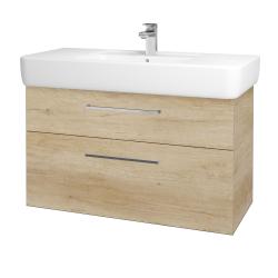 Dřevojas - Koupelnová skříň Q MAX SZZ2 100 - D15 Nebraska / Úchytka T04 / D15 Nebraska (173883E)
