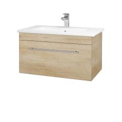 Dřevojas - Koupelnová skříň ASTON SZZ 80 - D15 Nebraska / Úchytka T02 / D15 Nebraska (173944B)