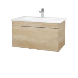 Dřevojas - Koupelnová skříň ASTON SZZ 80 - D15 Nebraska / Úchytka T05 / D15 Nebraska (173944F)