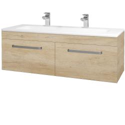 Dřevojas - Koupelnová skříň ASTON SZZ2 120 - D15 Nebraska / Úchytka T01 / D15 Nebraska (174002AU)
