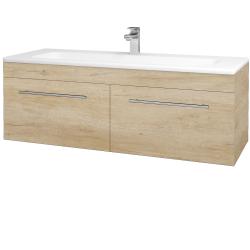 Dřevojas - Koupelnová skříň ASTON SZZ2 120 - D15 Nebraska / Úchytka T02 / D15 Nebraska (174002B)