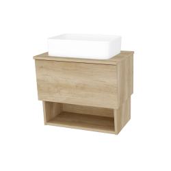 Dřevojas - Koupelnová skříň INVENCE SZZO 65 (umyvadlo Joy) - D15 Nebraska / D15 Nebraska (176457)