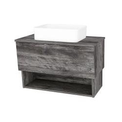 Dřevojas - Koupelnová skříň INVENCE SZZO 80 (umyvadlo Joy) - D10 Borovice Jackson / D10 Borovice Jackson (179120)