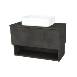 Dřevojas - Koupelnová skříň INVENCE SZZO 80 (umyvadlo Joy) - D16  Beton tmavý / D16 Beton tmavý (179199)