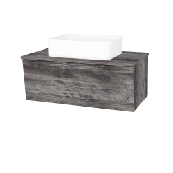 Dřevojas - Koupelnová skříň INVENCE SZZ 80 (umyvadlo Joy) - D10 Borovice Jackson / D10 Borovice Jackson (179403)