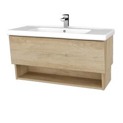 Dřevojas - Koupelnová skříň INVENCE SZZO 100 (umyvadlo Harmonia) - D15 Nebraska / D15 Nebraska (180218)
