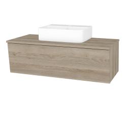 Dřevojas - Koupelnová skříň INVENCE SZZ 100 (umyvadlo Joy 3) - D17 Colorado / D17 Colorado (183301)