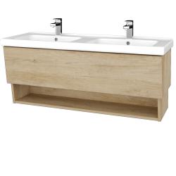 Dřevojas - Koupelnová skříň INVENCE SZZO 125 (dvojumyvadlo Harmonia) - D15 Nebraska / D15 Nebraska (184063)