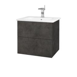 Dřevojas - Koupelnová skříň VARIANTE SZZ2 60 (umyvadlo Euphoria) - D16  Beton tmavý / D16 Beton tmavý (188474)