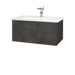 Dřevojas - Koupelnová skříň VARIANTE SZZ 80 (umyvadlo Euphoria) - D16  Beton tmavý / D16 Beton tmavý (188672)