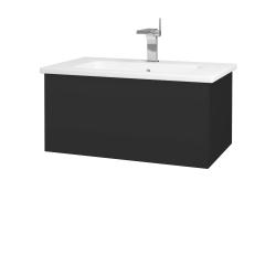 Dřevojas - Koupelnová skříň VARIANTE SZZ 80 (umyvadlo Euphoria) - N03 Graphite / N03 Graphite (188818)