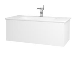 Dřevojas - Koupelnová skříň VARIANTE SZZ 100 (umyvadlo Euphoria) - M01 Bílá mat / M01 Bílá mat (189990)