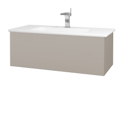 Dřevojas - Koupelnová skříň VARIANTE SZZ 100 (umyvadlo Euphoria) - N07 Stone / N07 Stone (190132)