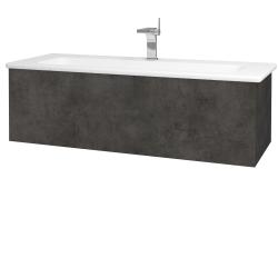 Dřevojas - Koupelnová skříň VARIANTE SZZ 120 (umyvadlo Euphoria) - D16  Beton tmavý / D16 Beton tmavý (190378)