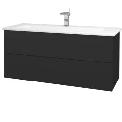Dřevojas - Koupelnová skříň VARIANTE SZZ2 120 (umyvadlo Euphoria) - N03 Graphite / N03 Graphite (190712)