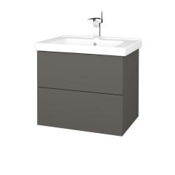 Dřevojas - Koupelnová skříň VARIANTE SZZ2 65 (umyvadlo Harmonia) - N06 Lava / N06 Lava (191627)