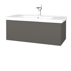 Dřevojas - Koupelnová skříň VARIANTE SZZ 100 (umyvadlo Harmonia) - N06 Lava / N06 Lava (192969)